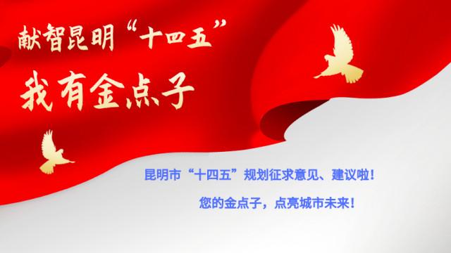 """【献智昆明""""十四五"""" 我有金点子】昆明市""""十四五""""规划征求意见、建议啦!"""