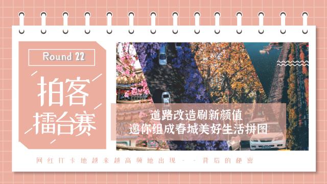 【拍客擂台赛Round 22】道路改造刷新颜值 邀你组成春城美好生活拼图